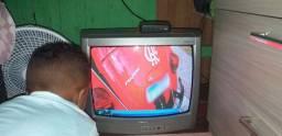Tv tubo com convensor e antena 160