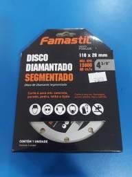 Kit 5 Disco Diamantado Segmentado 110x20mm Famastil