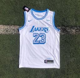 Camisa do Lakers branca tamanho M, G e GG disponível