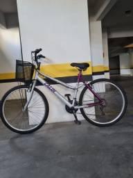 Bicicleta Caloi Ventura Aro 26 com Freio V-Brake, 21 Marchas e Cesto <br><br>