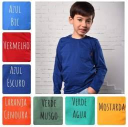 PROMOÇÃO!!!<br>Camisa manga longa para meninos de 10,12 e 14 anos.<br>