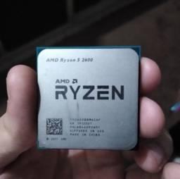 Processador Ryzen 5 2600, novo, sem cooler