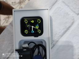 Smart watch (relógio inteligente) iwo 13 séries 6 44mm azul + uma pulseira de brinde