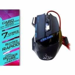 Mouse Gamer Usb 3200 Dpi Ótico 7 Botões X Soldado GM-700<br>