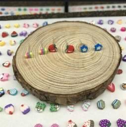 Kit 5 brinco infantil de argila