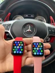 Smartwatch HW 12 40 mm - Rosê, Vermelho