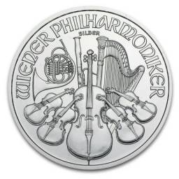 Moeda de prata Austria Silver Filarmônica de Viena 1 oz 2014
