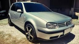 Vw - Volkswagen Golf Generation 1.6- 2003 Prata - Parcelamos - 2003
