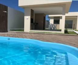 Casas 3/4 em Barra do Jacuípe com Piscina