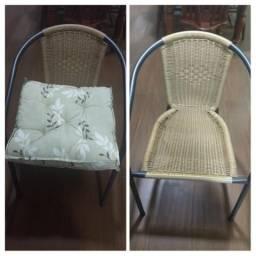 Cadeira com almofadas