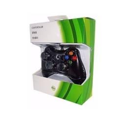 Controle Com Fio Usb Xbox 360 E Pc Notebook Slim