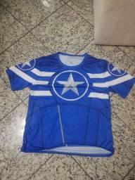 Camisa Capitão América anti transpirante