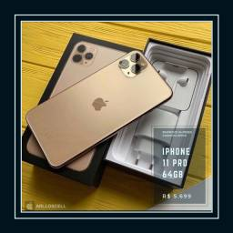 IPhone 11 Pro 64GB Gold Garantia Apple 01/21 NF Seguro Roubo e Queda