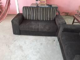 Jogo de sofá usado. 330 Reais