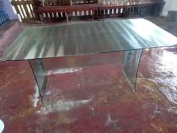 Mesa nova toda de vidro temperado