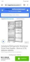 SITE DA LOJA PARCEIRO MAGALU VENDE - Geladeira/Refrigerador Brastemp 375L