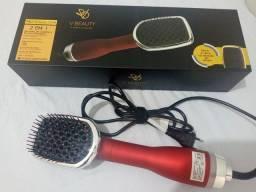 Secador de cabelo e escova alisadora 2 em 1 (V BEUATY)