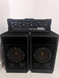 Cabeçote Amplificador Ciclotron Ctpr 160n Watson + Caixa 2 caixa de som