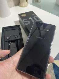 S10 Plus 128gb preto - impecável e completo