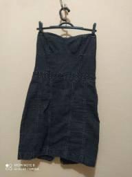 Vendo vestido jeans seminovo