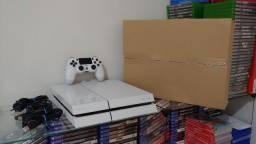 Playstation 4 Fat 500GB Branco + Jogo  / Troco / Parcelo