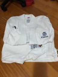 Quimono Karate Arawaza 3/160 (TAM para 1,40 a1,60, incluindo luvas, caneleira e faixa