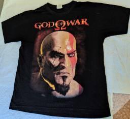 Camiseta Tshirt Jogo God Of War Kratos