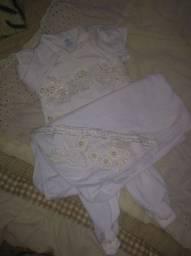 Saída maternidade luxo nova