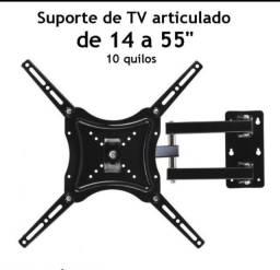 Suporte articulado pra tv universal de 14 a 55 polegadas grande promoção