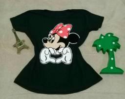 T-shirt estampa em veludo