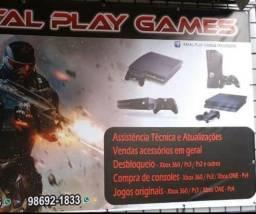 Manutenção controles e vídeos games PS4 one PS3 Xbox 3