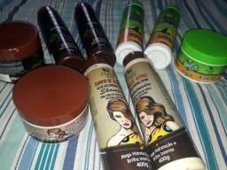Kit de hidratantes, e de manutenção para cabelo