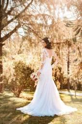 Vestido de noiva dos sonhos! SEMI SEREIA! 36-40