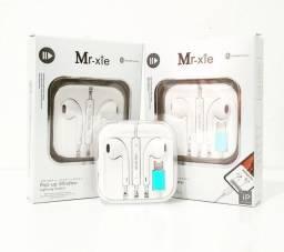 Fone para iPhone original Mr-xie,  7, 8, X, com frete grátis e garantia de 90 dias.