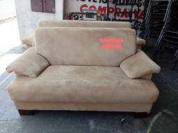 Jogo sofa em tecido suede