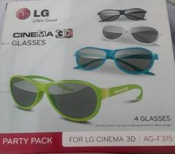 4 Óculos 3D Passivo LG AG-F315 Party Pack Cinema Original 3D. R$ 100,00