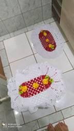 Tapetes de crochê lindos feitos com muita delicadeza
