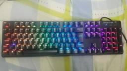 Teclado mecânico switch  Blue RGB