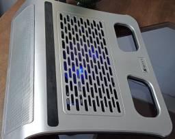 Mesa para notebook com cooler e com som  integrado. C/ frete é  grátis.