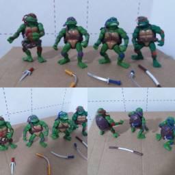 Coleção completa Tartarugas Ninjas com acessórios