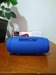 """Caixa de som """"JBL"""" Charge 3 portátil com Bluetooth Blue"""