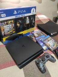 PS4 - 1tb memória - Garantia até 06/2021