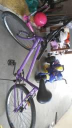 Bicicleta com Bagageiro e para lama