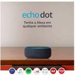 Alexa Echo dot 3º geração amazon nova lacrada wifi bluetooth