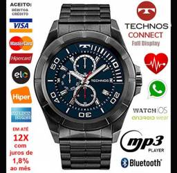 "Smartwatch Technos Connect 3.0 Full Display, LCD 1.3"", Android e iOS, Novíss, Cx, NF, Gar"