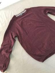 Suéter e camisa manga comprida
