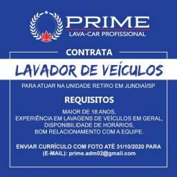 Oferta de Emprego - Lavador de Veículos em Jundiaí/SP