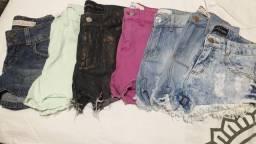 Shorts jeans tam 34 lote 25 cada