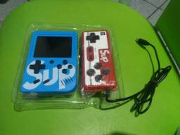 Mini game boy portátil sup led 3'' com controle - azul