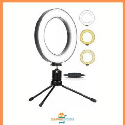 Iluminador Ring Light Led Tripé Youtuber Maquiagem 16cm